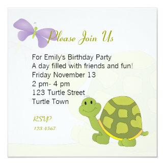 """Pop Turtle 5.25"""" Square Invitation Card"""