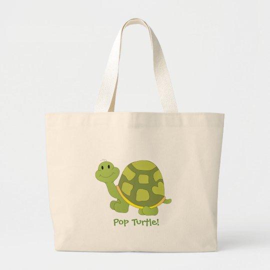 Pop Turtle! Large Tote Bag