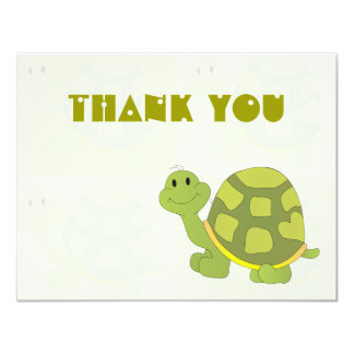 """Pop Turtle Thank You Notes 4.25"""" X 5.5"""" Invitation Card"""