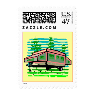POP-UP CAMPER SQ STAMPS Great Home or Away Camping