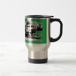 Pop Up RV on Green Travel Mug