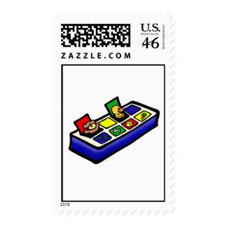 pop up toy postage stamp