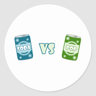 Pop vs Soda Classic Round Sticker