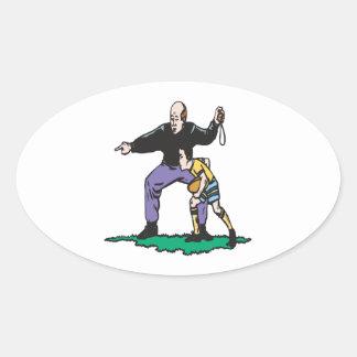 Pop Warner Coach Oval Sticker