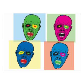 pop zombie postcard