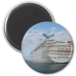 Popa del barco de cruceros de la sensación del car imán redondo 5 cm