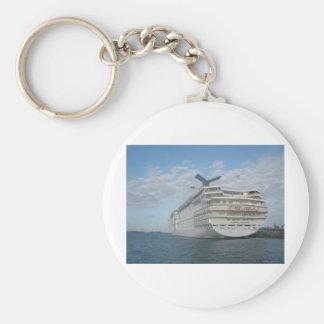 Popa del barco de cruceros de la sensación del car llavero redondo tipo pin