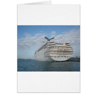 Popa del barco de cruceros de la sensación del car felicitaciones