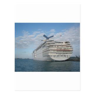 Popa del barco de cruceros de la sensación del car tarjeta postal