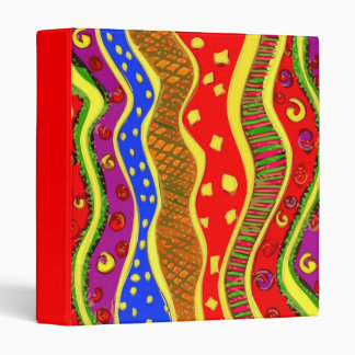 popart colorz abstract binder