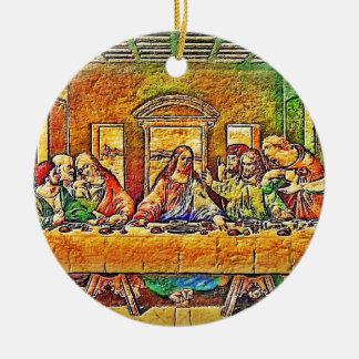 PopArt da Vinci Ceramic Ornament