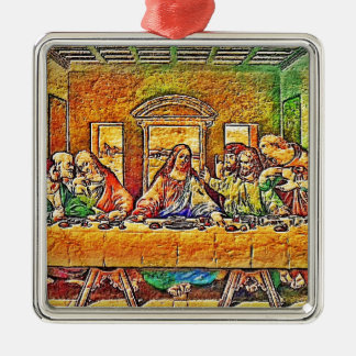 PopArt da Vinci Metal Ornament