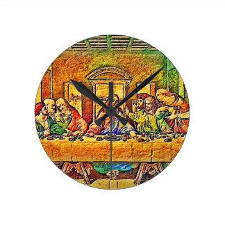 PopArt da Vinci Round Clock