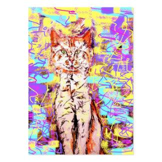 popart del gato de tabby tarjetas de negocios