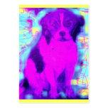popart del perro del beagle plantilla de tarjeta de visita