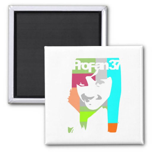 popart girl 2 inch square magnet