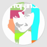 popart girl classic round sticker
