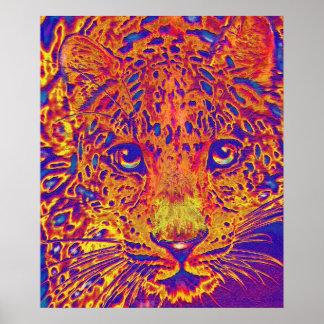 popart leopard poster