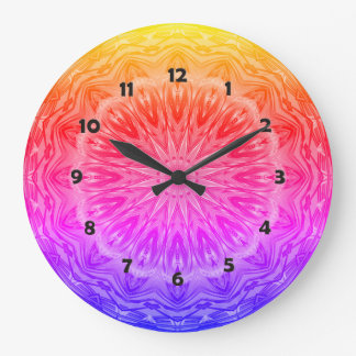 PopArt Love Power Mandala Large Clock