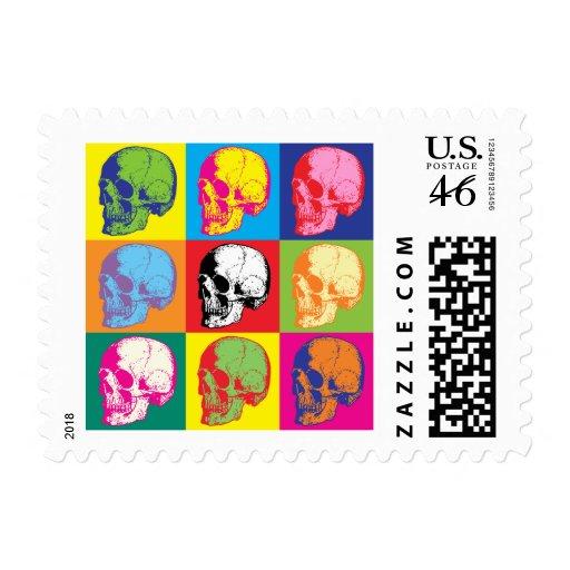 Popart skulls stamp