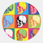 Popart skulls stickers