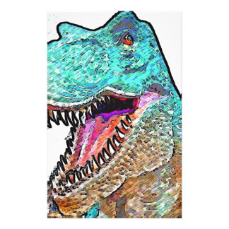 PoPArt T-Rex Stationery Paper