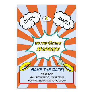 Popart Wedding Save the date Card