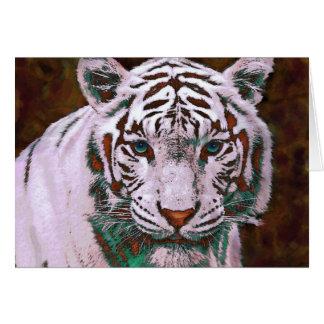 popart white tiger card