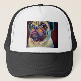 Dog Art Pug Baseball   Trucker Hats  13ebe44ddb3