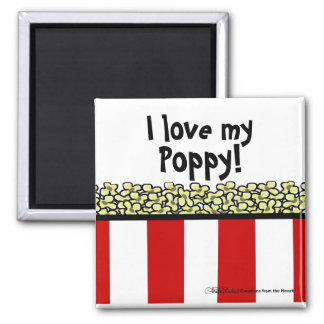 Popcorn 2 Inch Square Magnet