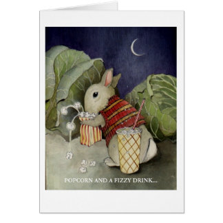 POPCORN AND A FIZZY DRINK... STATIONERY NOTE CARD