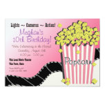 Popcorn and a Movie 5x7 Paper Invitation Card