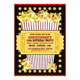 movie party invitations zazzle
