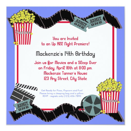 Popcorn and a Movie Card