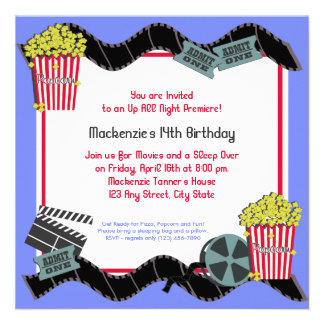Popcorn and a Movie Custom Invitation