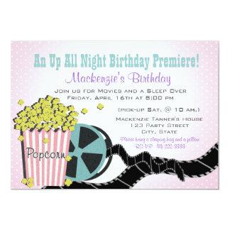 Popcorn and a Movie Sleepover Card