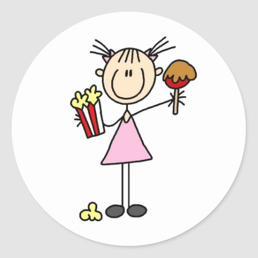 Popcorn And Caramel Apple At The Fair Sticker