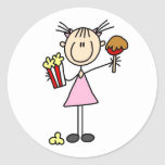 Popcorn and Cotton Candy Tshirts and Gifts Classic Round Sticker