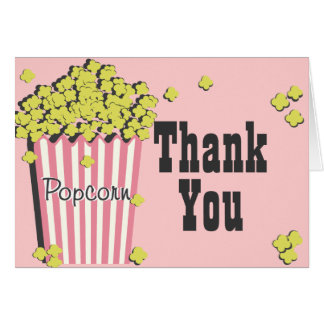 Popcorn and Movie Thank You Card