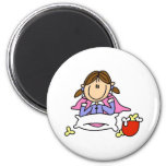 Popcorn And Pajamas Magnet Refrigerator Magnet