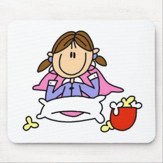 Popcorn And Pajamas Mousepad