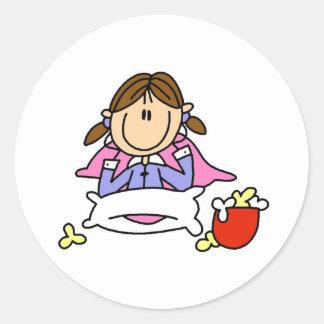 Popcorn And Pajamas Sticker