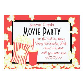 Popcorn and Soda Invitation