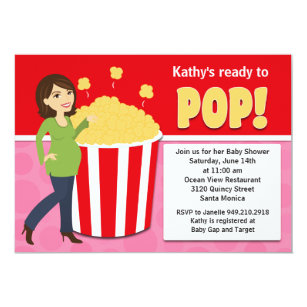 Popcorn baby shower invitations announcements zazzle popcorn baby shower invitation filmwisefo Images