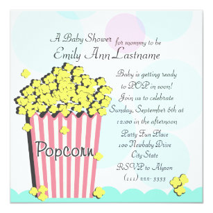Popcorn baby shower invitations announcements zazzle popcorn baby shower invitation filmwisefo