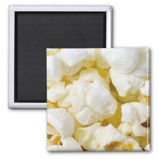 Popcorn Background 2 Inch Square Magnet