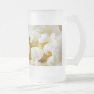 Popcorn Background Frosted Glass Beer Mug