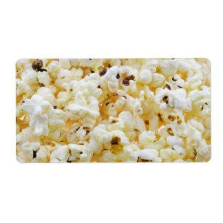 Popcorn background label