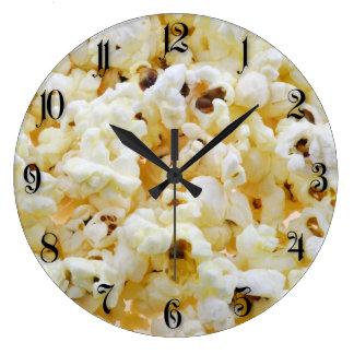 Popcorn background large clock