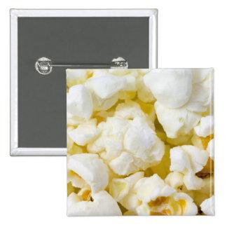 Popcorn Background Pinback Button